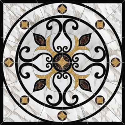 florence square-floor-medallion-A